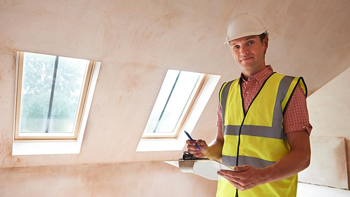 Worker providing a Mold Inspection in Chelmsford